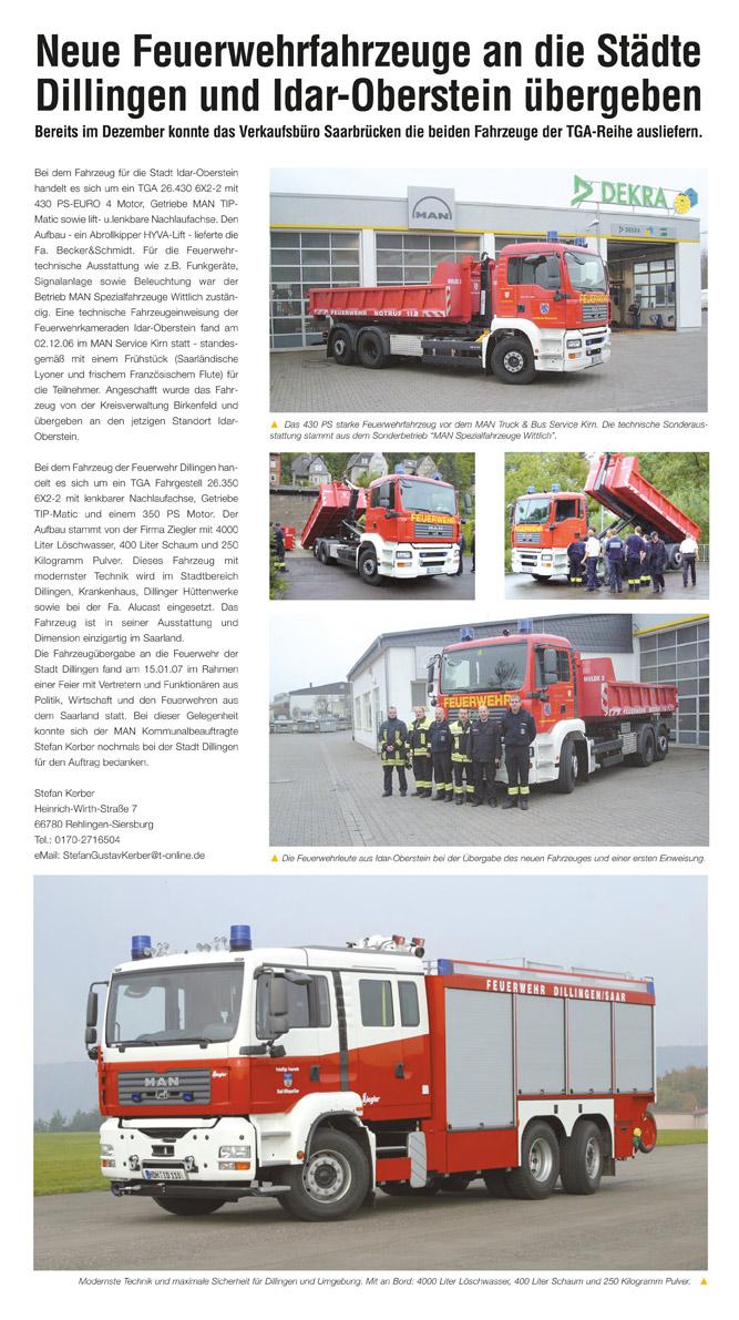 Feuerwehrfahrzeuge setzen auf Brossbox