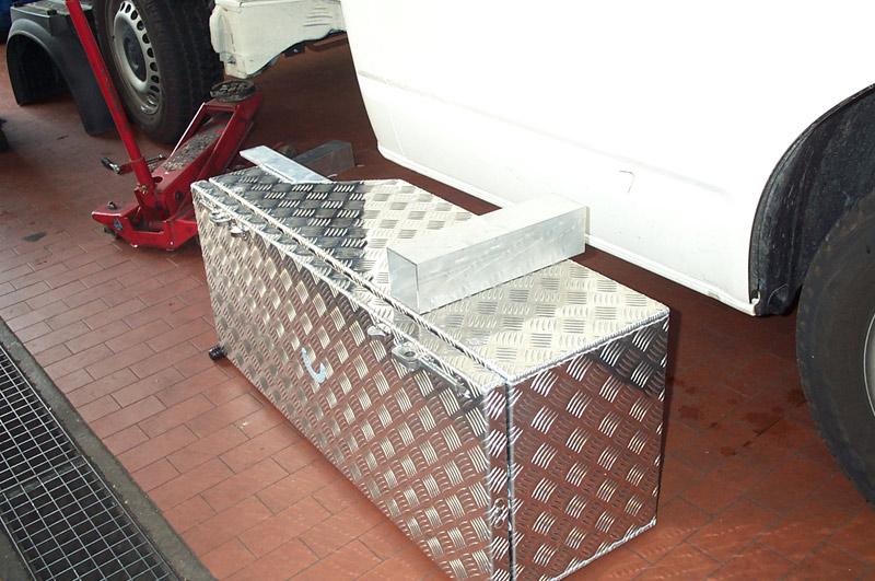 Montage der Pritschenbox