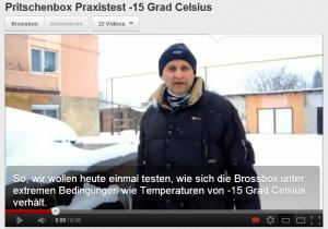 Brossbox bei Schnee und Eis
