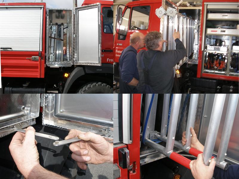 Unterlur Alubox Feuerwehr Einsatzwagen