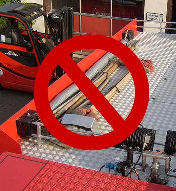 Ladungssicherung Fahrzeugdach