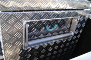 Aluminium Kiste mit Klappgriffen