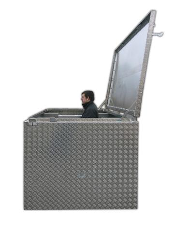 Extra Große Transportkiste aus Aluminium