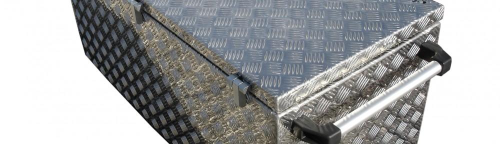 Aluminium Kiste feste Griffe Staukasten