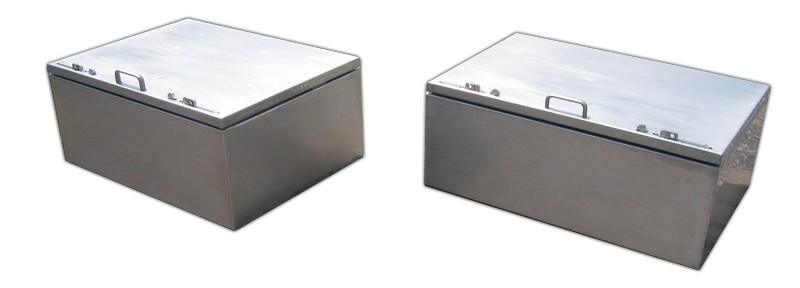 Edelstahl Staubox