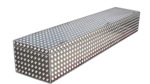 Lange Staukiste aus Aluminium