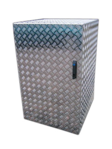Müllcontainer aus Aluminium