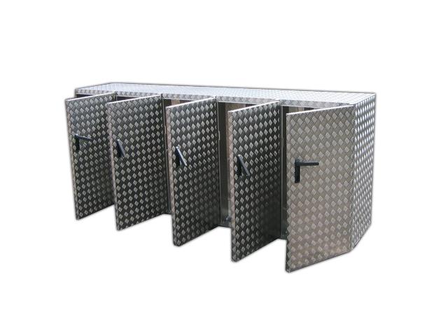 m llbox zur aufbewahrung mit 5 zug ngen brossbox. Black Bedroom Furniture Sets. Home Design Ideas
