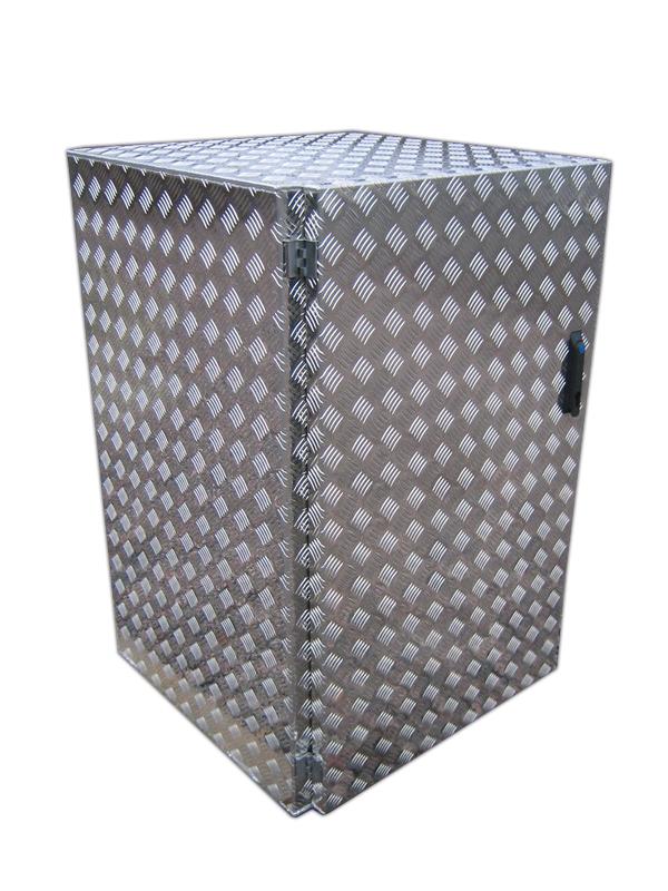 Müllschrank Aluminium