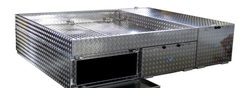 Spezial Brossbox Werkzeugwanne aus Aluminium