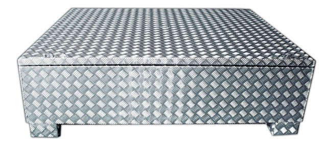 Große Toolbox aus Aluminium Riffelblech