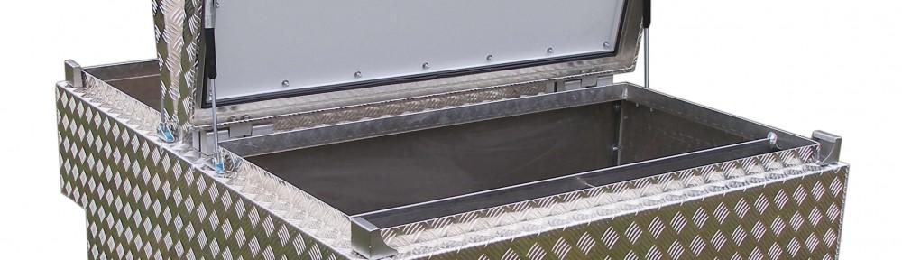 Staukastenkoffer Doppeltür aus Aluminium