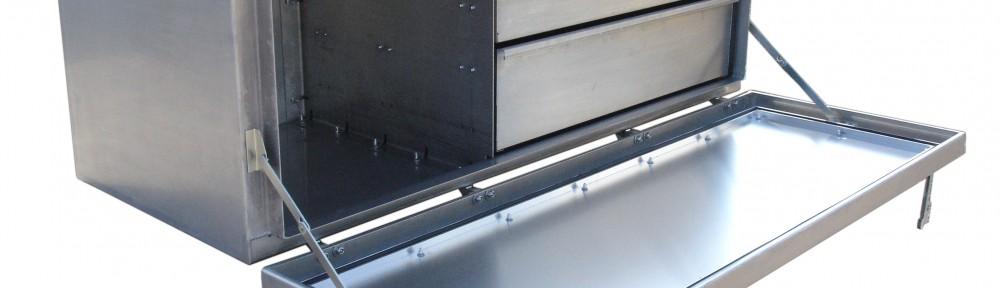 Unterflur Transportkiste mit Schubladen