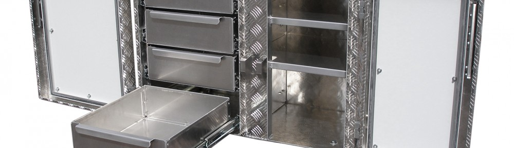 Werkstattkoffer Werkzeugkiste Rollen und Schubladen