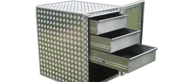 Aluminium Werkzeugwagen Riffelblech