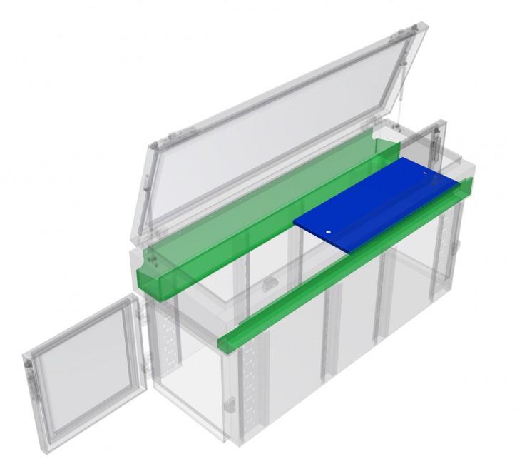 NC-Boxen Einlegeboden oben, halbe Breite