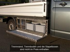 VW T5 / T6 Eka Unterflurbox, langer Radstand ( 3400 mm ), Fahrtrichtung rechts